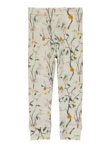 Bilde av Name it, Nmfwillow beige ullstilongs m/ blomster
